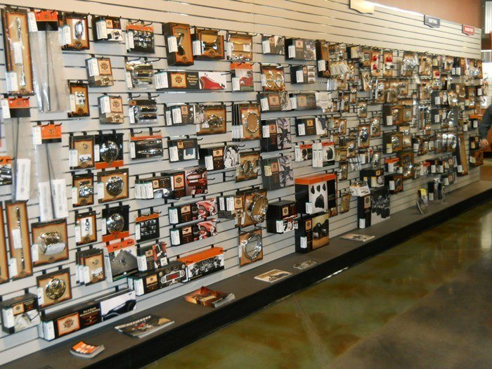 Image of dealer parts showroom